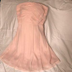 Light pink chiffon-like dress